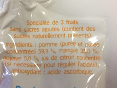 Ma pause fruit - Ingredients