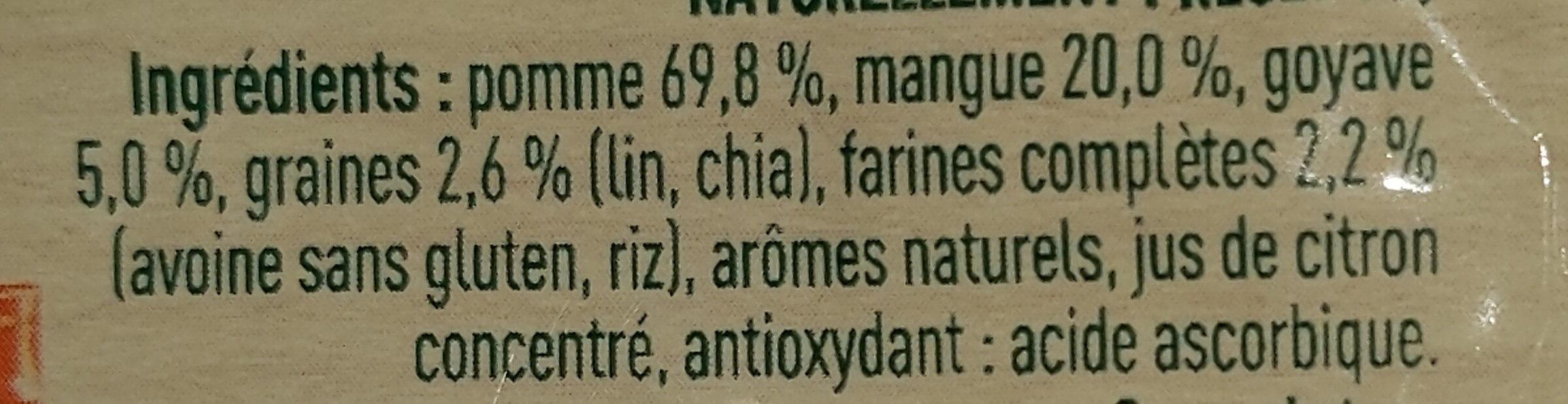 Pomme mangue goyave - Ingredienti - fr