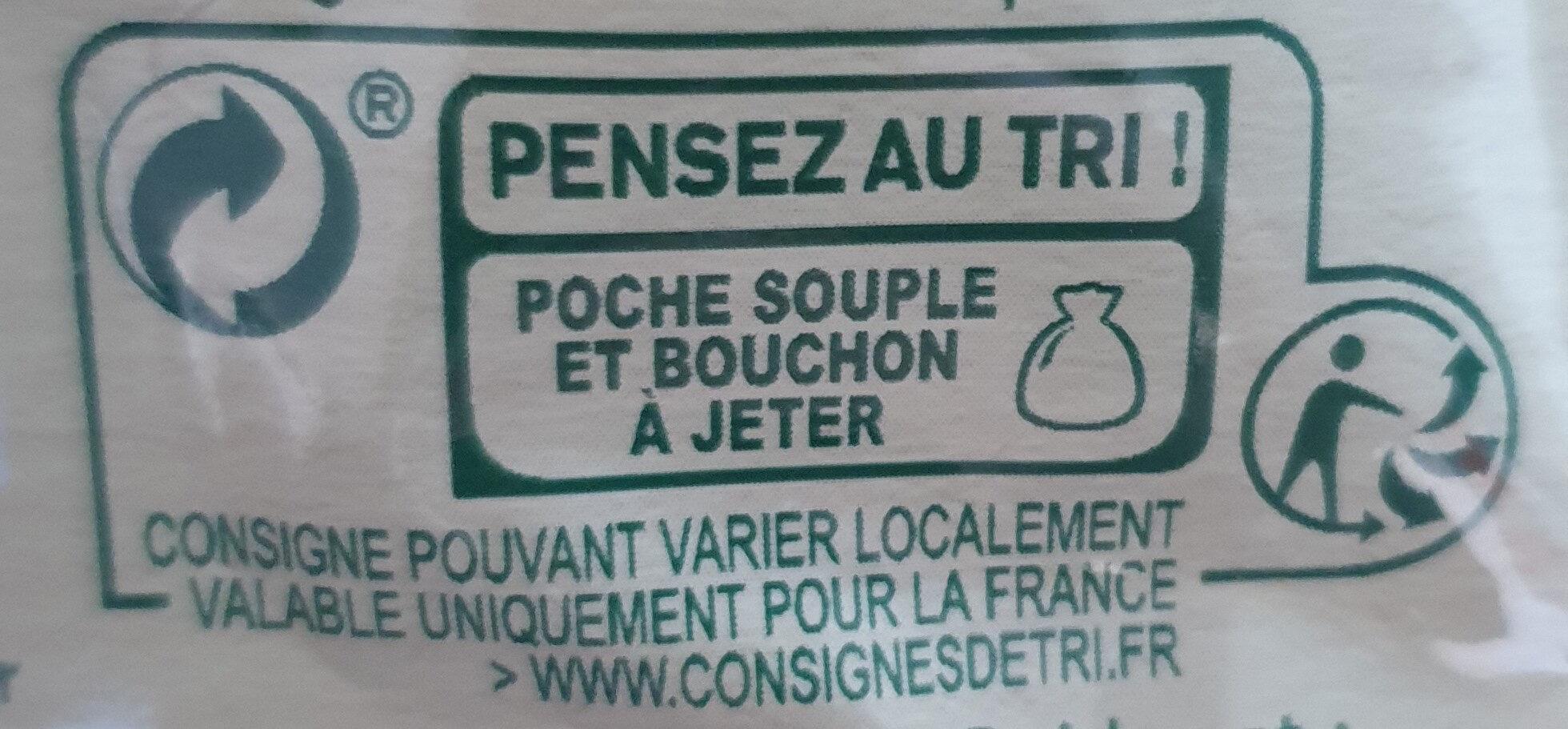 Pomme mangue goyave - Istruzioni per il riciclaggio e/o informazioni sull'imballaggio - fr