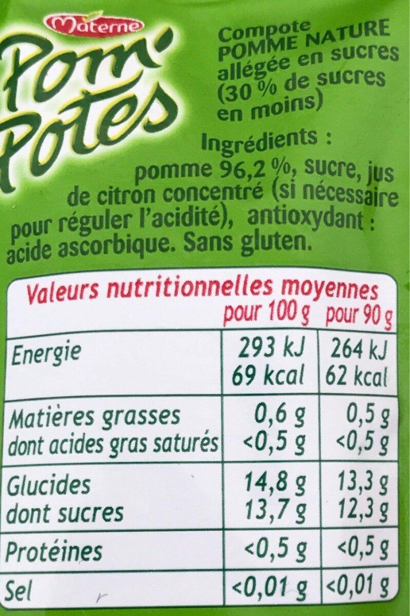 Pom'potes pomme - Ingrédients