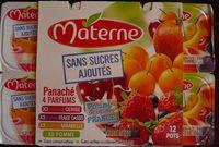Panaché 4 parfums (cerise, fraise cassis, mirabelle, pomme) - Produit
