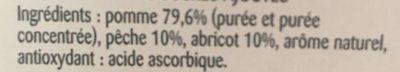 Compotes Pomme Pêche Abricot sans sucres ajoutés - Ingrediënten - fr