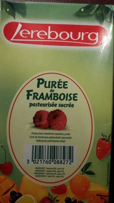 Purée de Framboise pasteurisée sucrée - Produit
