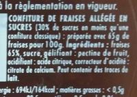 Confipote Fraise - Ingrédients - fr