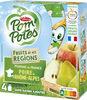 POM'POTES SSA Fruits de nos Régions Pomme Poire de Rhône-Alpes 4x90g - Product
