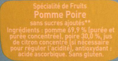Pomme poire - Ingrediënten - fr