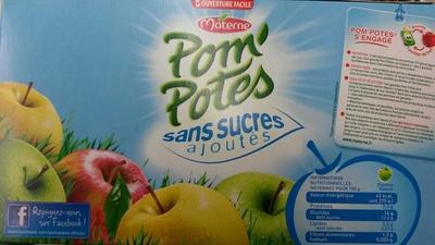 Pom'Potes sans sucres ajoutés - Produit