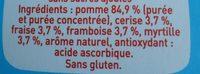 Pom' Potes 5 fruits - Ingredients