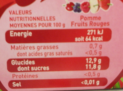 Pom' Potes 5 fruits - Nutrition facts