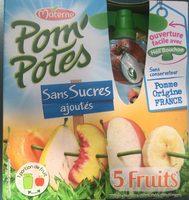 Pom'Potes 5 fruits sans sucres ajoutés - Product - fr