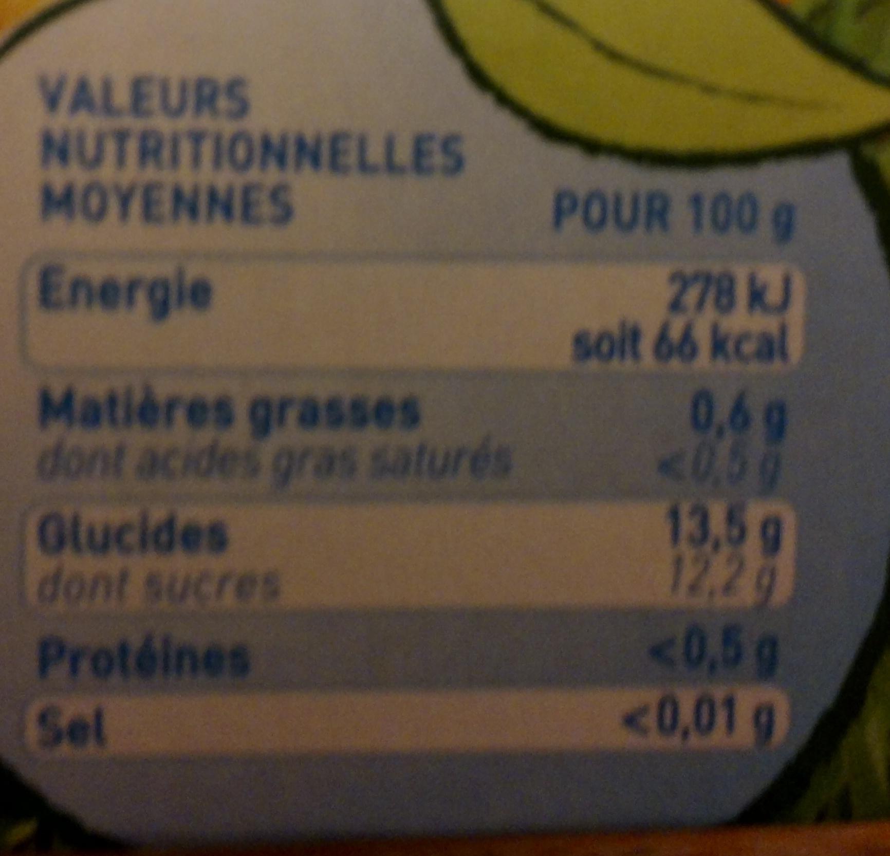 Pom'Potes 5 fruits sans sucres ajoutés - Nutrition facts - fr