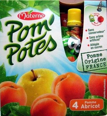 Compotes pomme et abricot, allégées en sucres - Product - fr