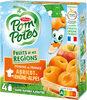 POM'POTES SSA Fruits de nos Régions Pomme Abricot de Rhône-Alpes 4x90g - Produit