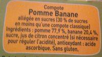 POM'POTES Pomme Banane 4x90g - Ingredients - fr