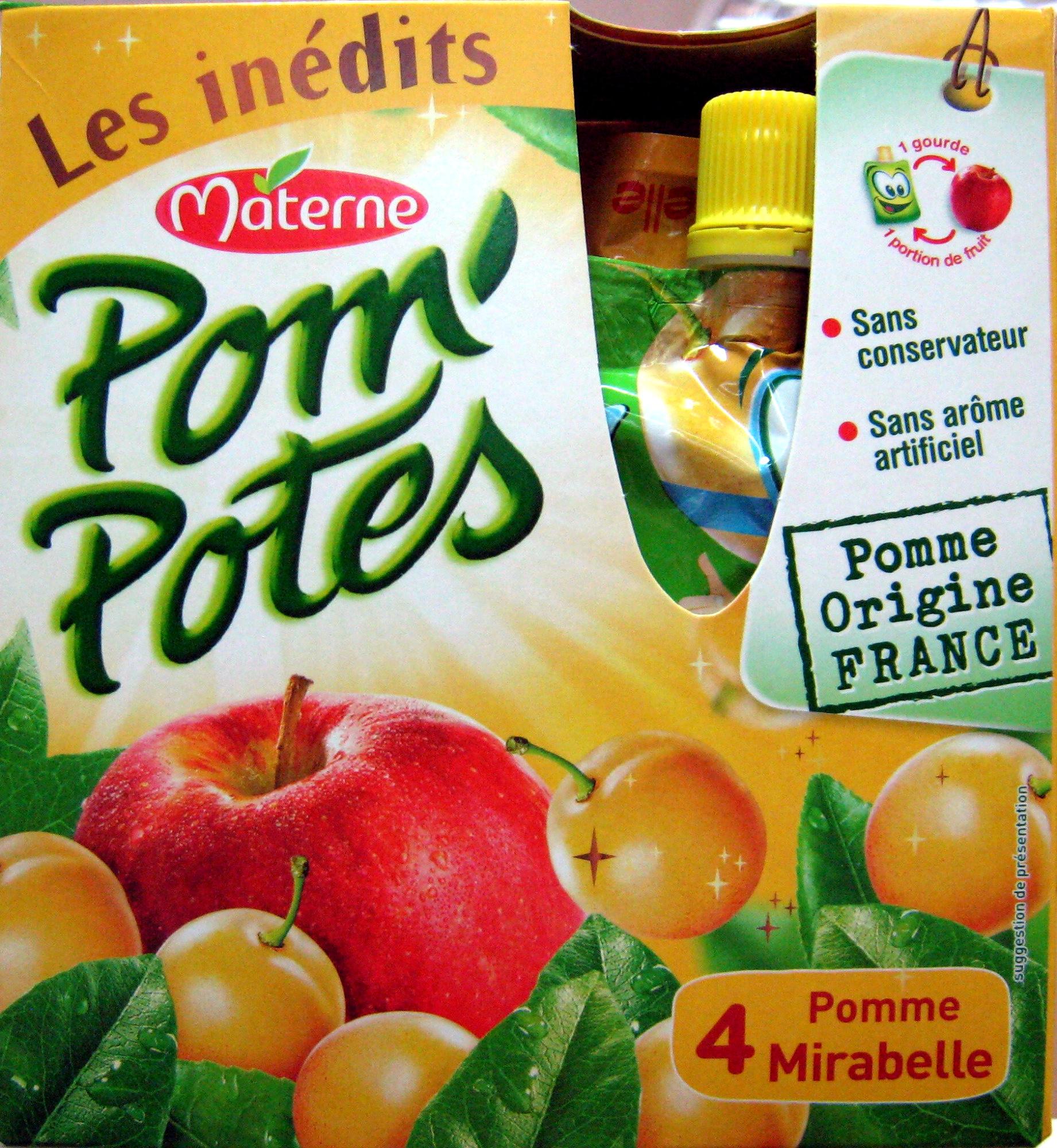 Pom\'Potes pomme mirabelle Materne - Product - fr