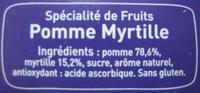 Pom'Potes pomme myrtille Materne - Ingrediënten - fr