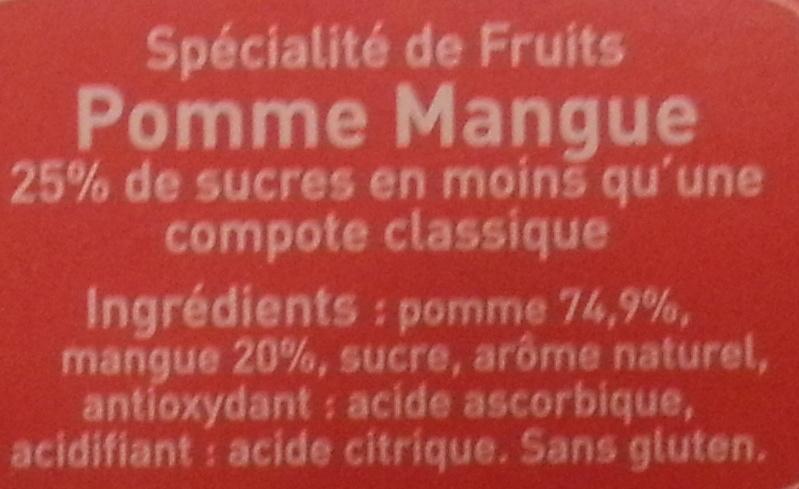 Pom' Potes - Pomme Mangue - édition limitée - Ingredients - fr