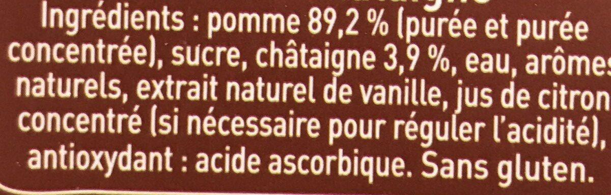 Pom'Potes Pomme Chataigne - Ingrediënten