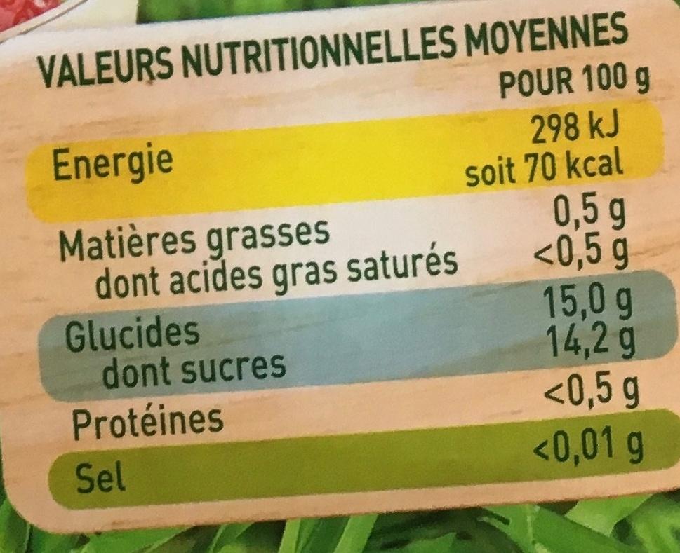 Pomme Fraise Bio - Informations nutritionnelles - fr
