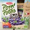 Pom' Potes - Compotes de pomme et myrtille bio - Produit