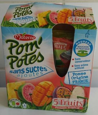 Pom'potes sans sucres ajoutés pomme tropical - Product - fr
