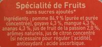 Pom'potes sans sucres ajoutés pomme tropical - Ingredients