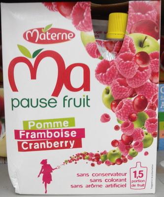 Ma Pause Fruit Pomme Framboise Cranberry - Product - fr