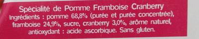 Ma Pause Fruit Pomme Framboise Cranberry - Ingrediënten - fr