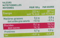 Ma Pause Fruit Pomme Framboise Cranberry - Voedingswaarden - fr
