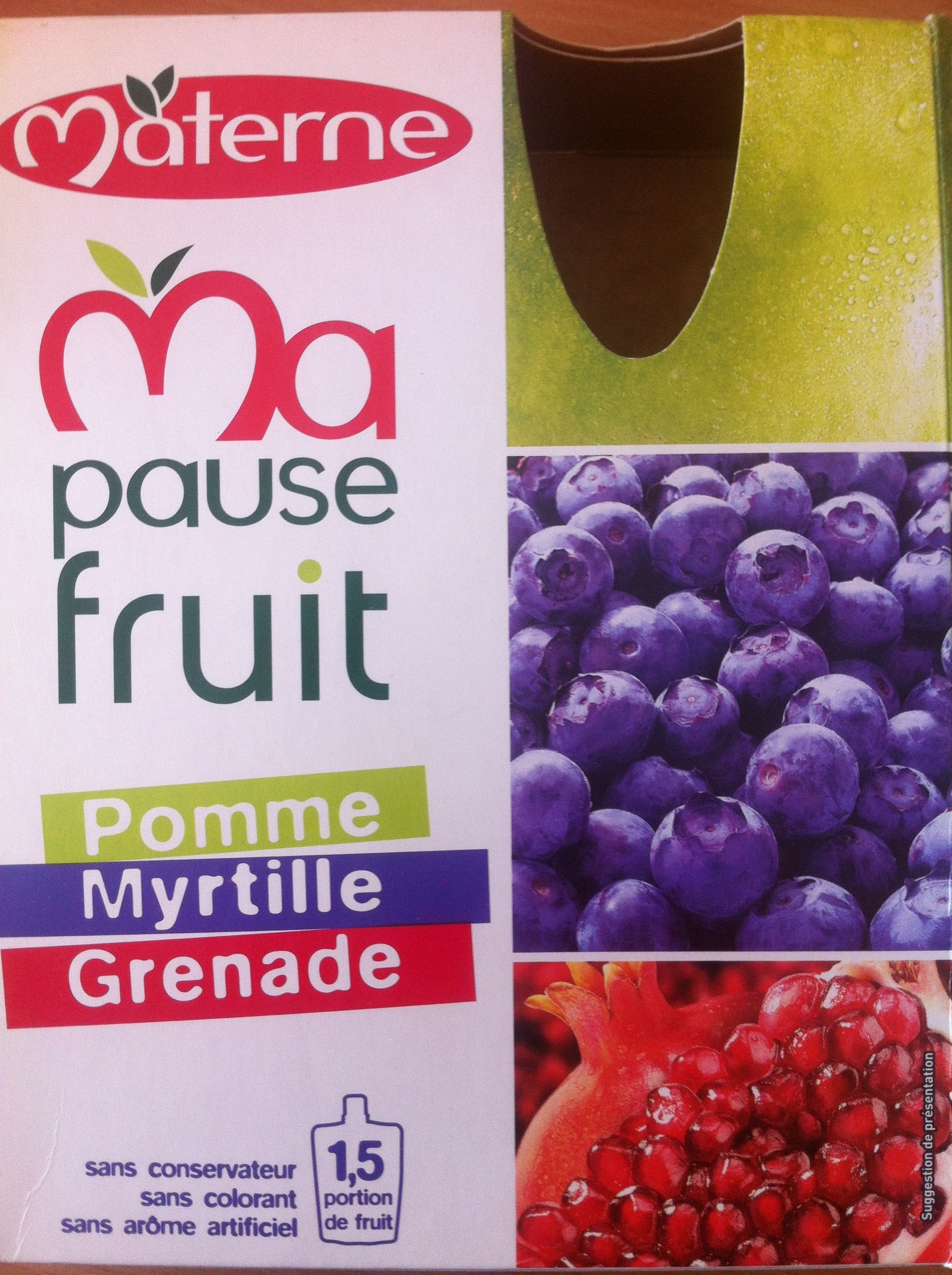 Ma pause fruit pomme myrtille grenade - Produit - fr