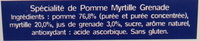 Ma pause fruit pomme myrtille grenade - Ingrédients - fr