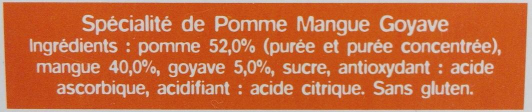 Ma pause fruit Pomme Mangue Goyave - Ingrédients