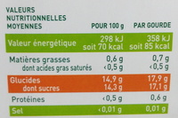 Ma pause fruit Pomme Mangue Goyave - Informations nutritionnelles