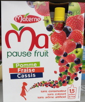 Ma pause fruit Pomme Fraise Cassis - Product - fr