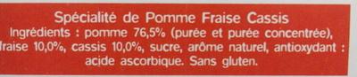 Ma pause fruit Pomme Fraise Cassis - Ingrédients - fr