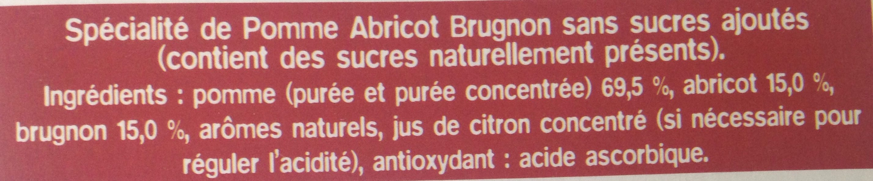 Ma Pause Fruit Pomme Abricot Brugnon - Ingredients