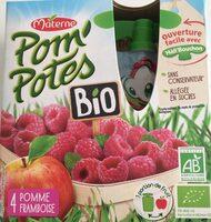 POM'POTES BIO SSA Pomme Framboise 4x90g - Nutrition facts - fr