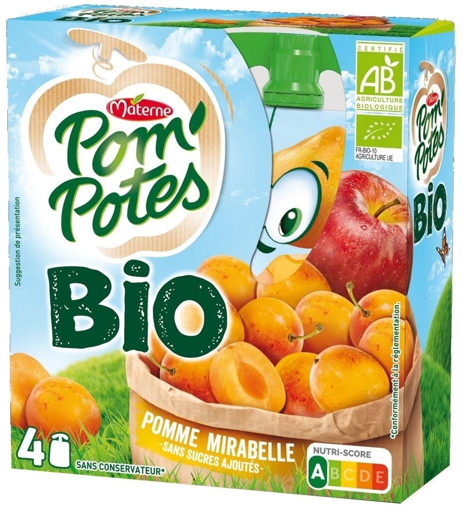 POM'POTES BIO SSA Pomme Mirabelle 4x90g - Product - fr