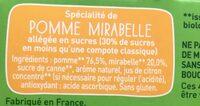POM'POTES BIO SSA Pomme Mirabelle 4x90g - Ingredients - fr
