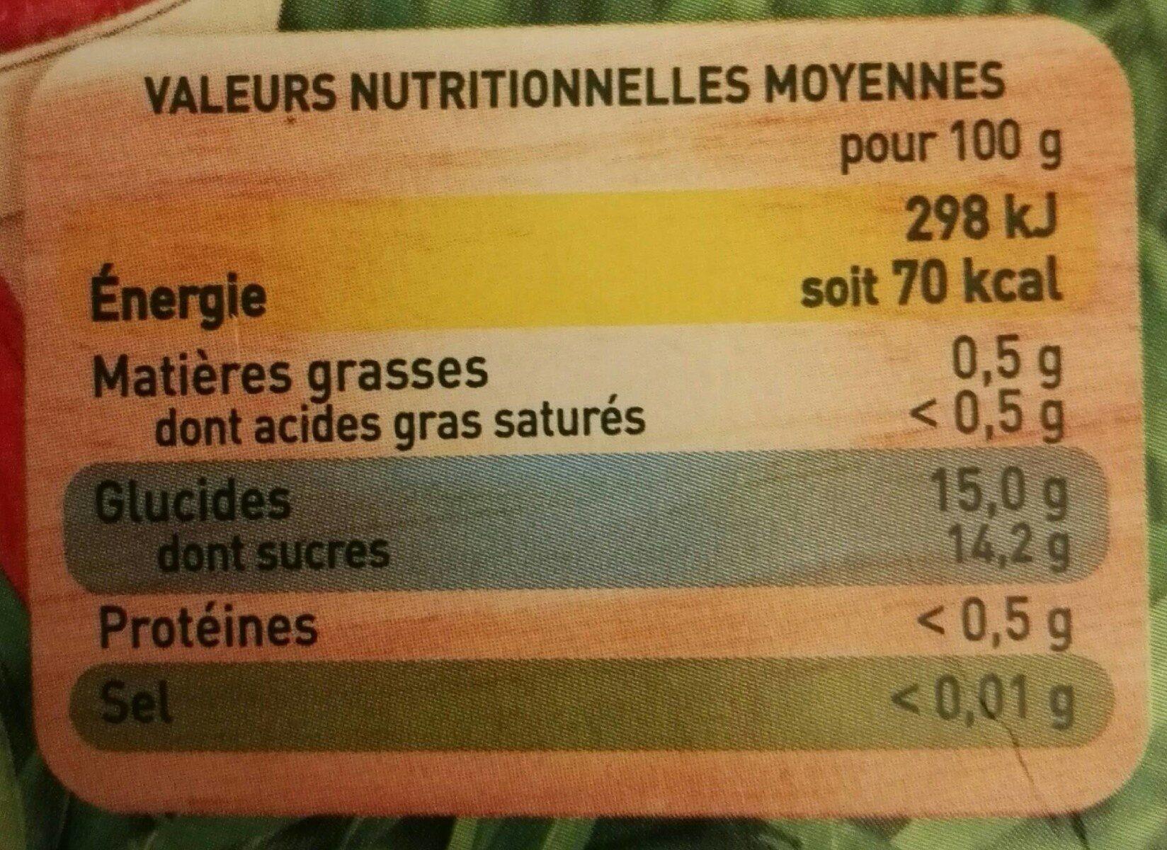 POM'POTES BIO SSA Pomme Fraise 4x90g - Informations nutritionnelles - fr
