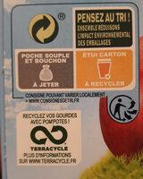 POM'POTES BIO SSA Pomme Pêche Brugnon 4x90g - Instruction de recyclage et/ou informations d'emballage - fr