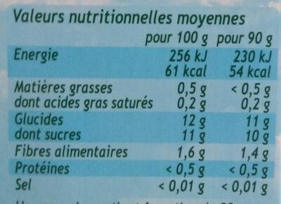 POM'POTES BIO SSA Pomme Poire 4x90g - Informations nutritionnelles - fr