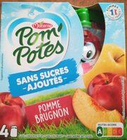 PomPotes Sans Sucres Ajoutés Pomme Brugnon - Product - fr