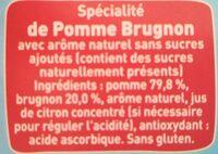 POM'POTES SSA Pomme Brugnon - Ingrédients - fr
