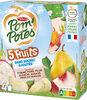 POM'POTES SSA 5 Fruits Blancs (Pomme-Poire-Pêche Blanche-Banane-Fruit du dragon) 4x90g - Prodotto