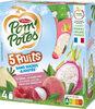 POM'POTES SSA 5 Fruits Roses (Pomme-Framboise-Goyave-Litchi-Fruit du dragon) 4x90g - Prodotto