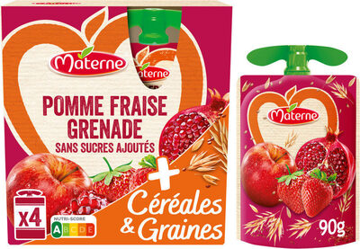 MATERNE SSA Pomme Fraise Grenade Céréales & Graines - Produit - fr