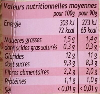 MATERNE SSA Pomme Fraise Grenade Céréales & Graines - Informations nutritionnelles - fr
