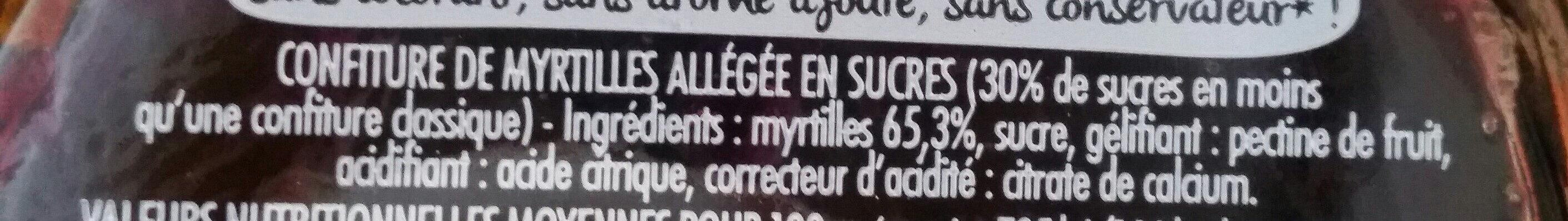 CONFIPOTE La myrtille - Ingredients - fr