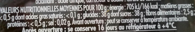 CONFIPOTE La myrtille - Nutrition facts - fr